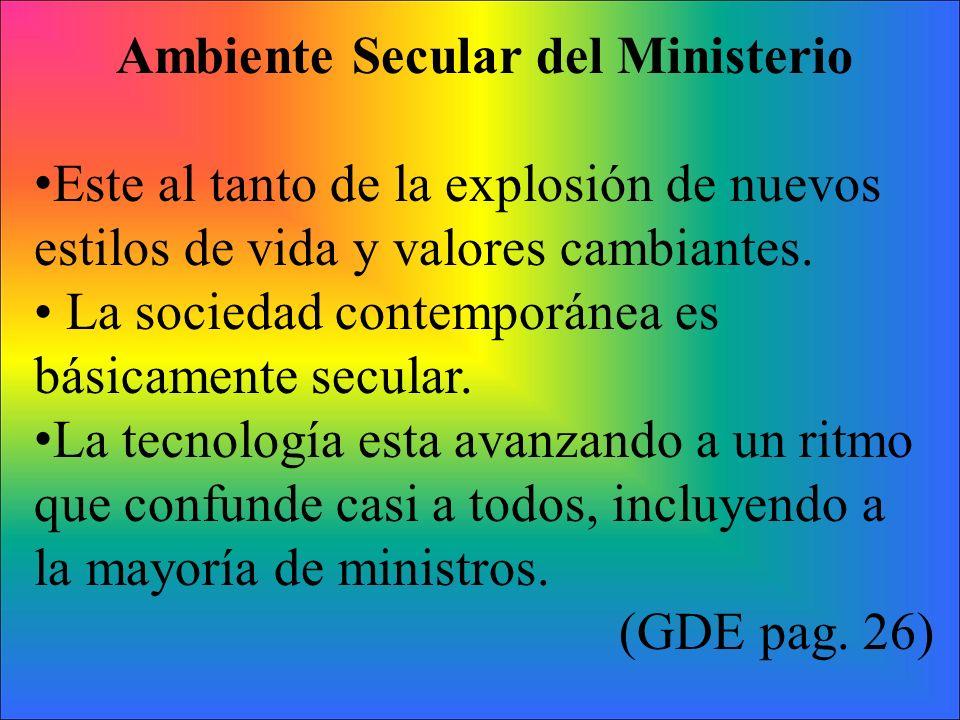 Ambiente Secular del Ministerio
