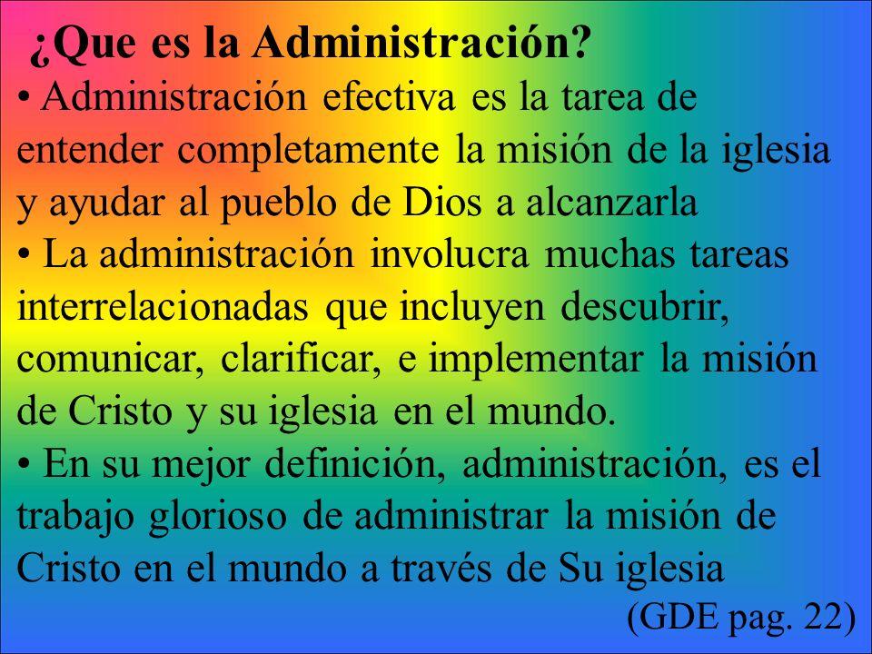 ¿Que es la Administración