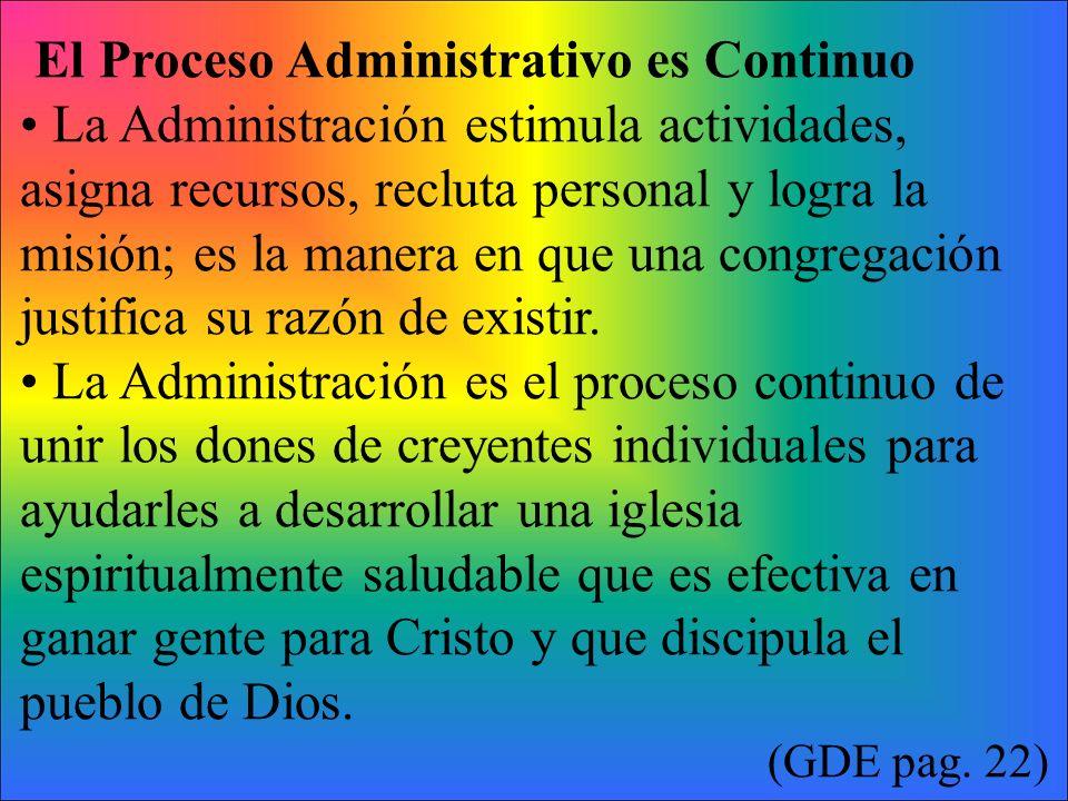 El Proceso Administrativo es Continuo