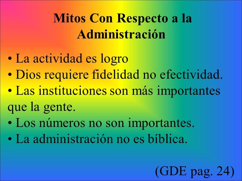 Mitos Con Respecto a la Administración