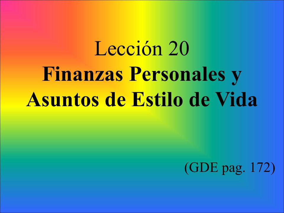 Finanzas Personales y Asuntos de Estilo de Vida