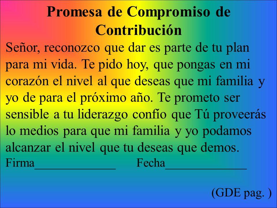 Promesa de Compromiso de Contribución