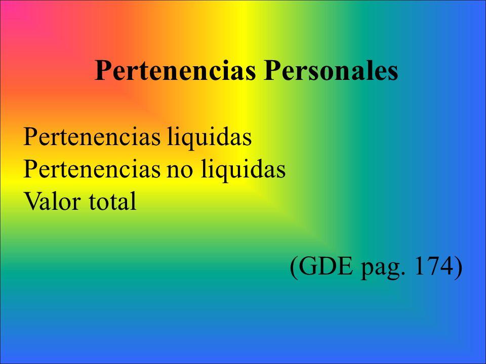Pertenencias Personales