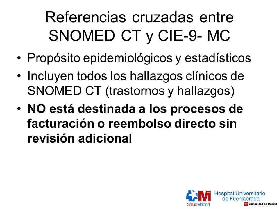 Referencias cruzadas entre SNOMED CT y CIE-9- MC