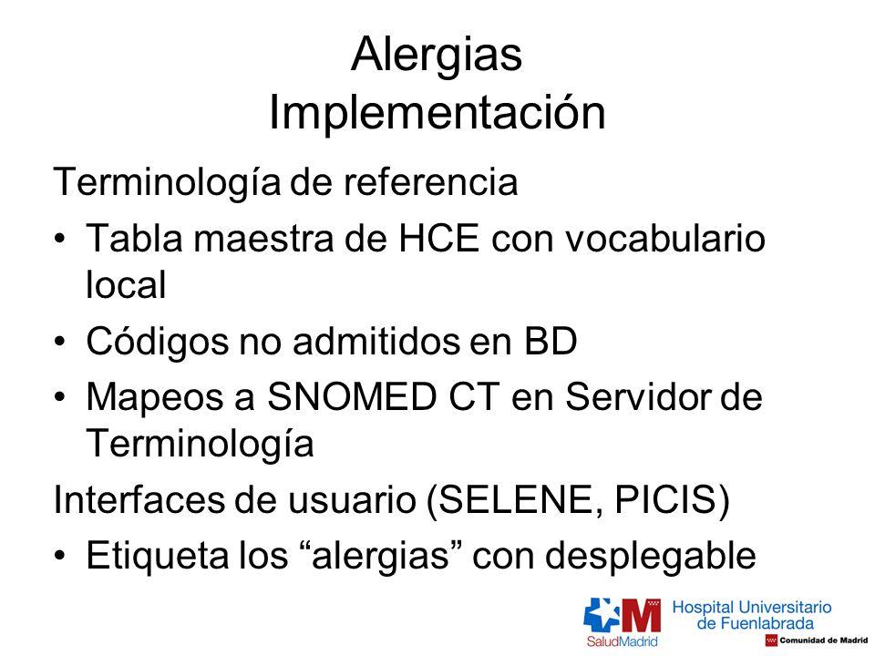Alergias Implementación