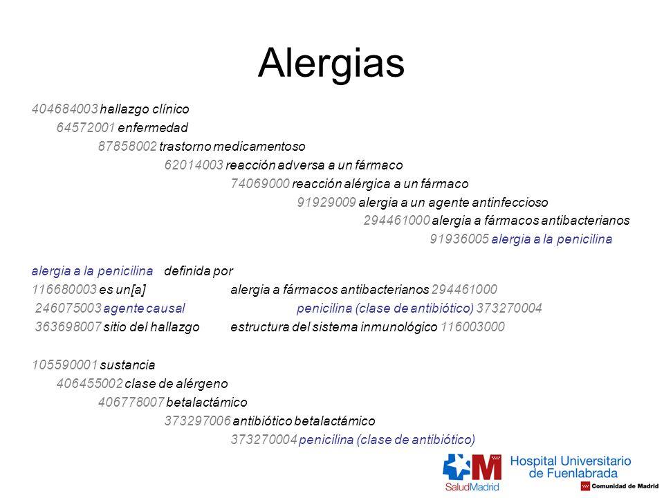 Alergias 404684003 hallazgo clínico 64572001 enfermedad