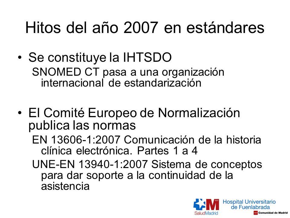 Hitos del año 2007 en estándares