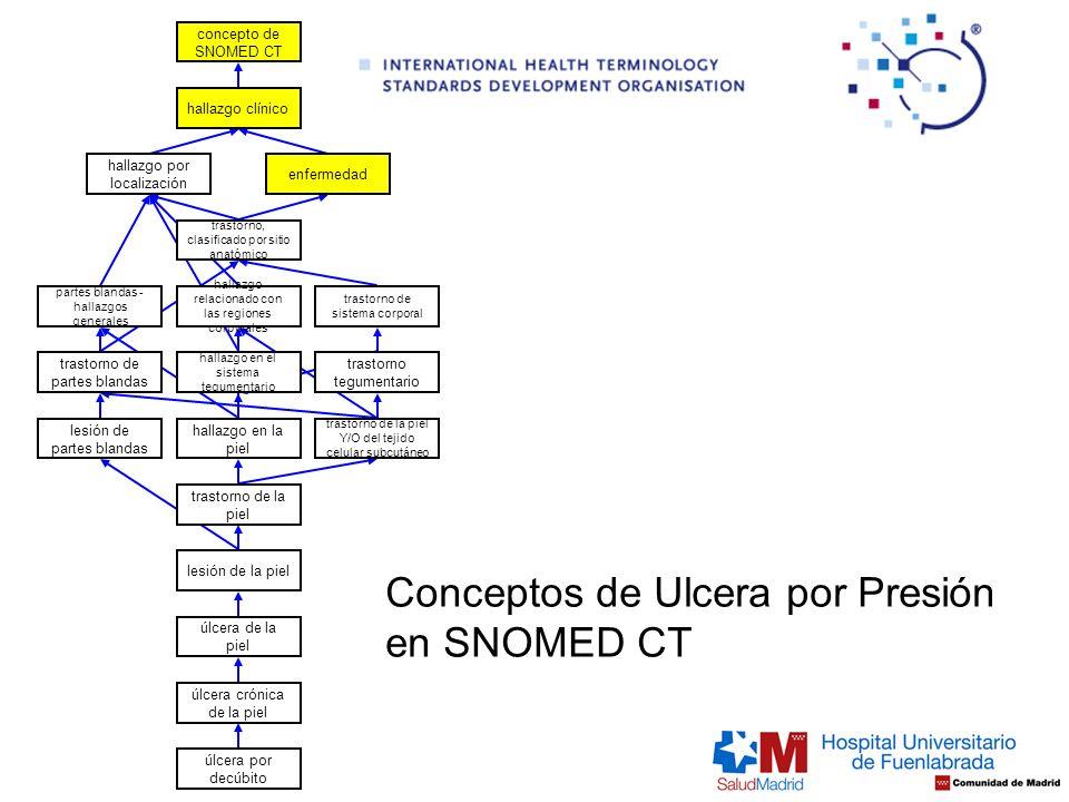 Conceptos de Ulcera por Presión en SNOMED CT