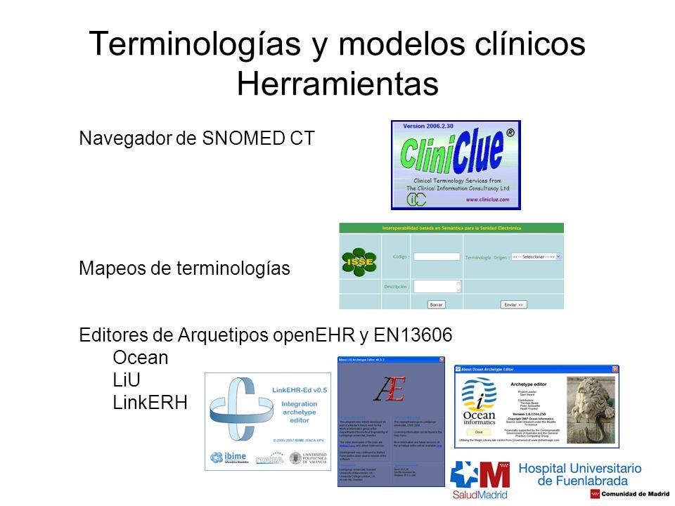 Terminologías y modelos clínicos Herramientas
