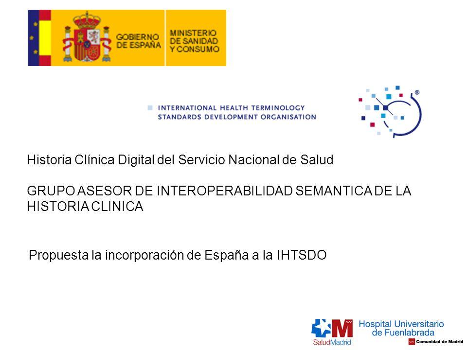 Historia Clínica Digital del Servicio Nacional de Salud