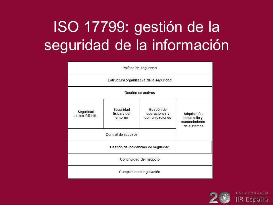 ISO 17799: gestión de la seguridad de la información