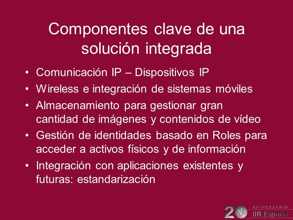 Componentes clave de una solución integrada