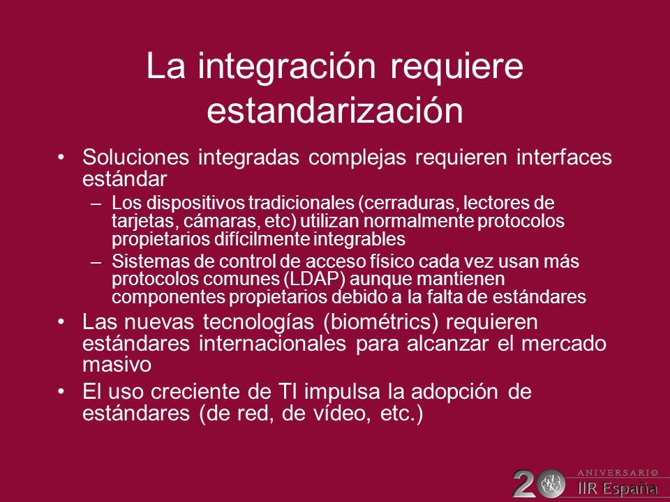 La integración requiere estandarización