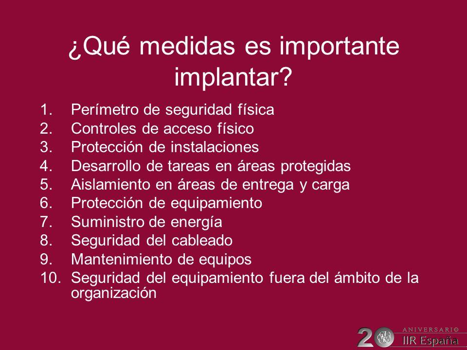 ¿Qué medidas es importante implantar