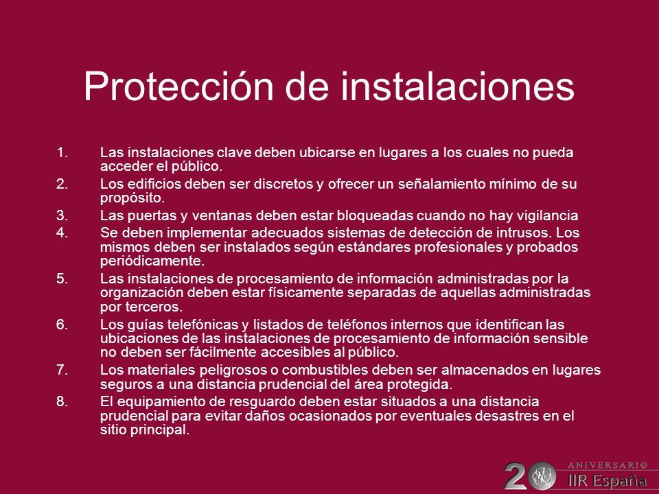 Protección de instalaciones