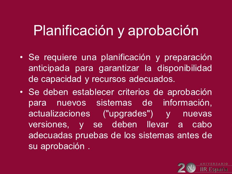Planificación y aprobación