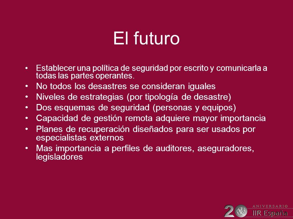 El futuro No todos los desastres se consideran iguales