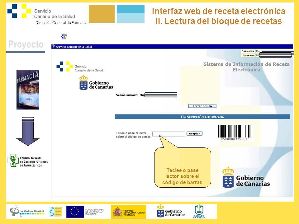 Proyecto Interfaz web de receta electrónica