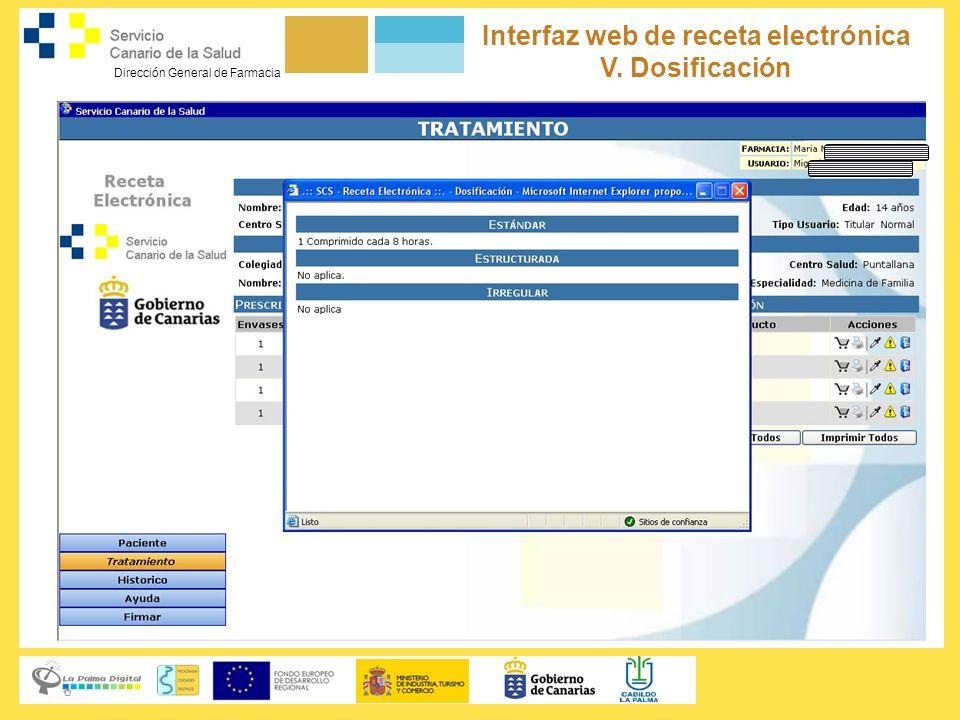 Interfaz web de receta electrónica