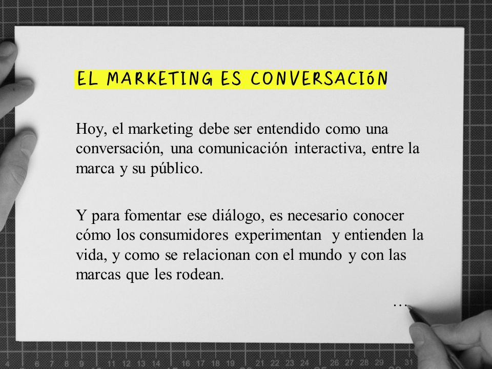 EL MARKETING ES CONVERSACIóN