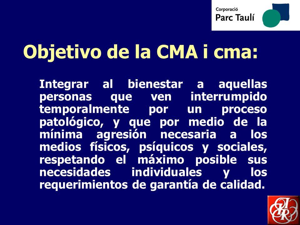 Objetivo de la CMA i cma:
