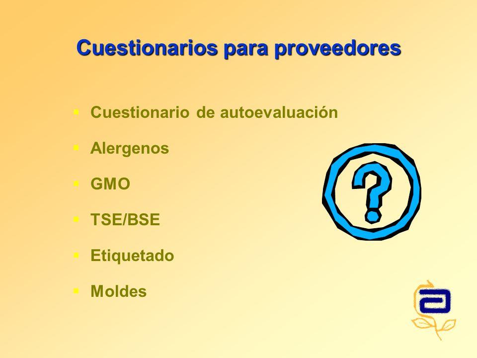 Cuestionarios para proveedores