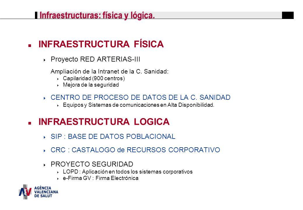 Infraestructuras: física y lógica.