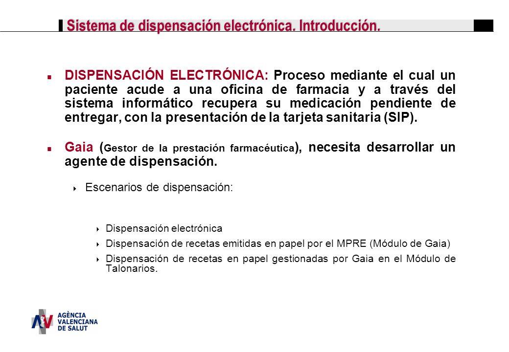 Sistema de dispensación electrónica. Introducción.
