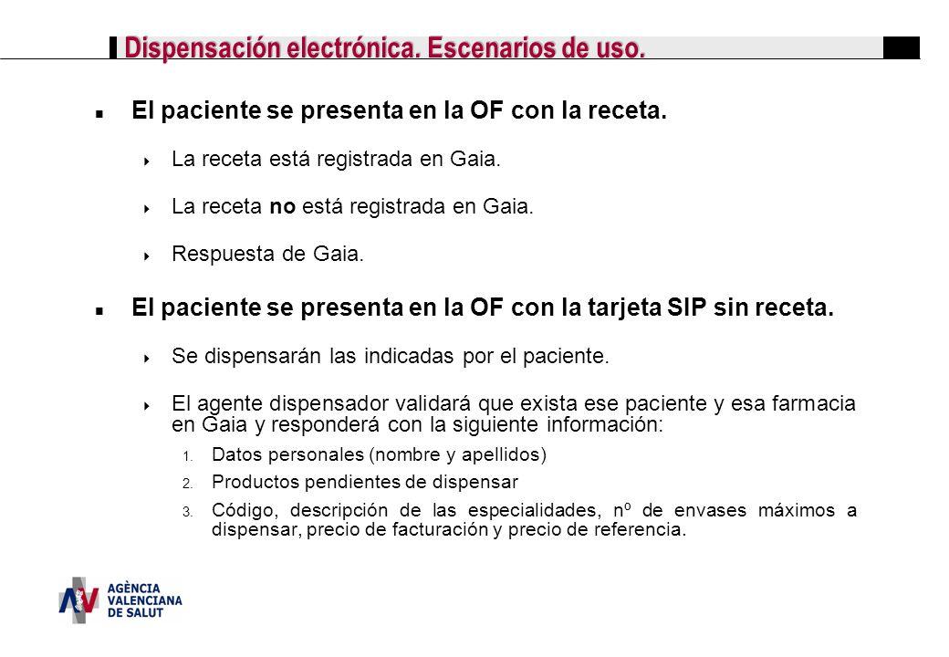 Dispensación electrónica. Escenarios de uso.