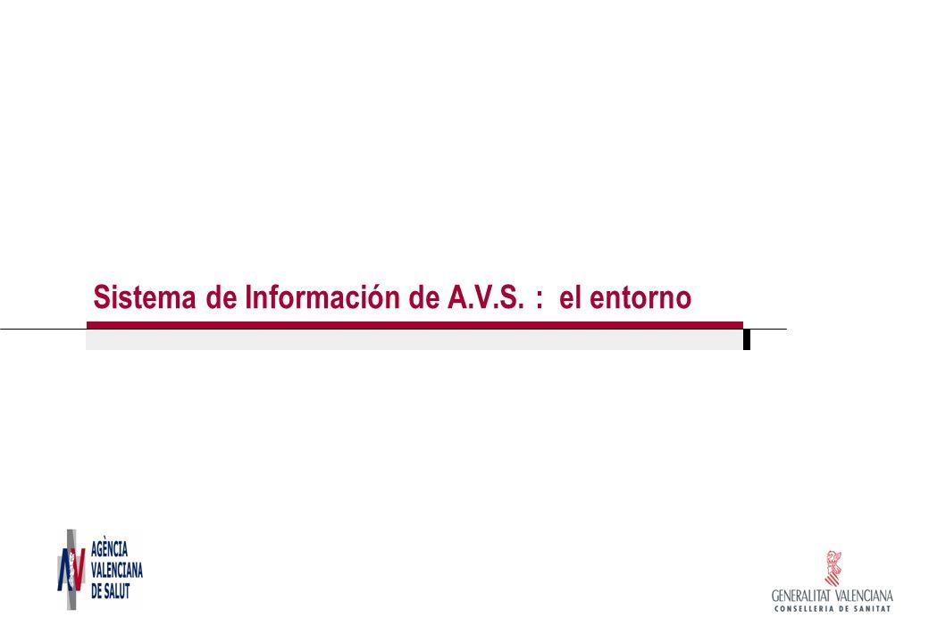 Sistema de Información de A.V.S. : el entorno