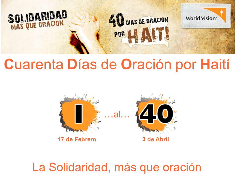Cuarenta Días de Oración por Haití