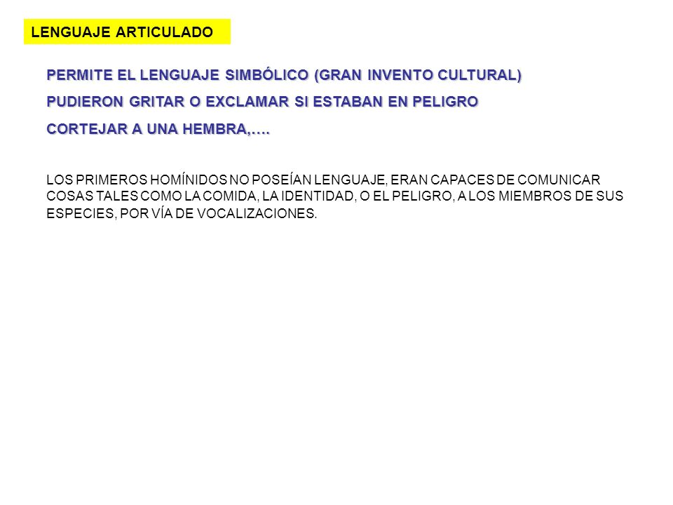 PERMITE EL LENGUAJE SIMBÓLICO (GRAN INVENTO CULTURAL)