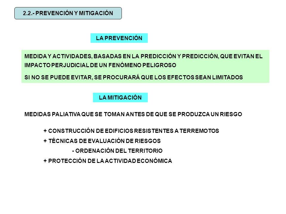 2.2.- PREVENCIÓN Y MITIGACIÓN
