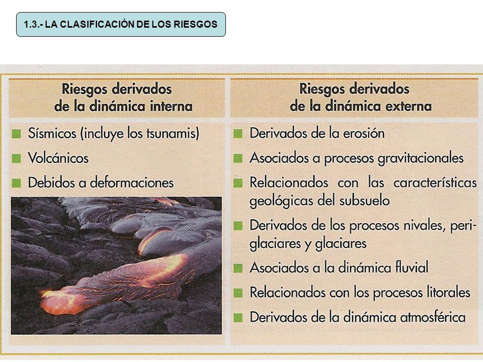 1.3.- LA CLASIFICACIÓN DE LOS RIESGOS