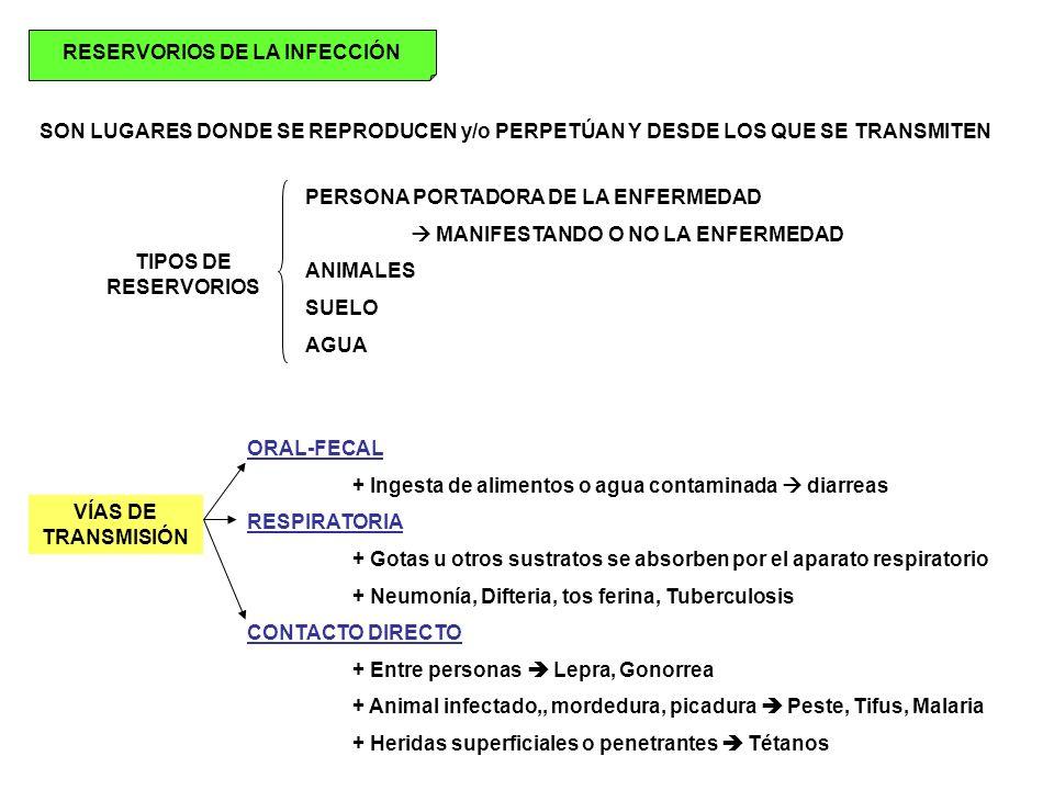 RESERVORIOS DE LA INFECCIÓN