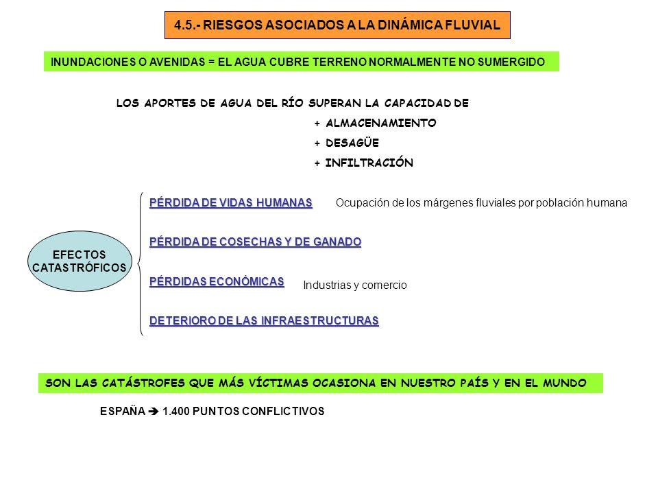 4.5.- RIESGOS ASOCIADOS A LA DINÁMICA FLUVIAL