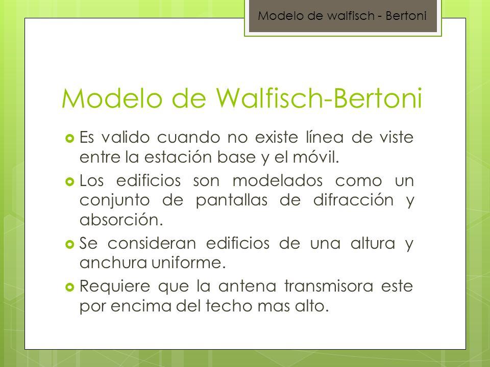 Modelo de Walfisch-Bertoni