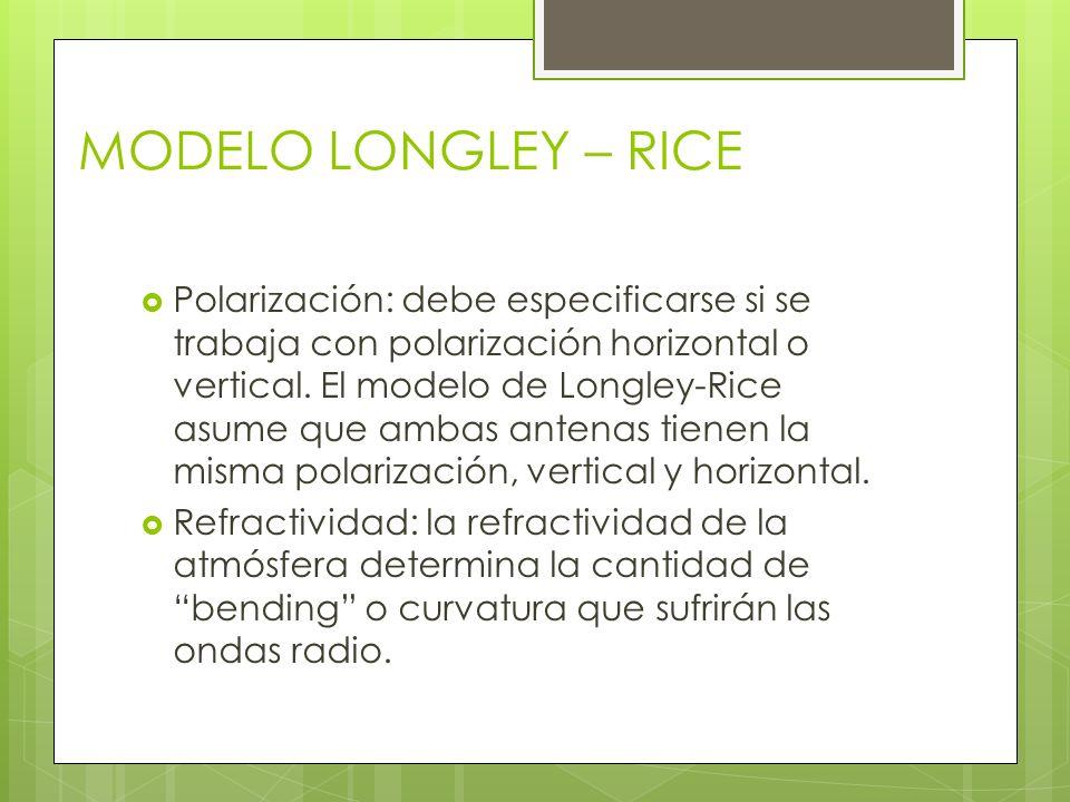 MODELO LONGLEY – RICE