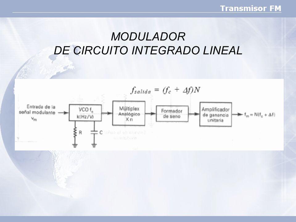 MODULADOR DE CIRCUITO INTEGRADO LINEAL