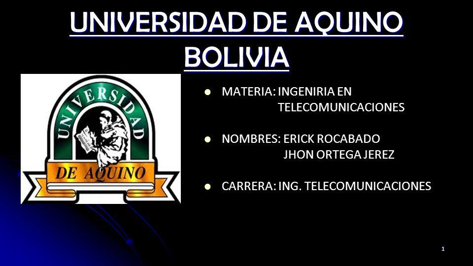 UNIVERSIDAD DE AQUINO BOLIVIA