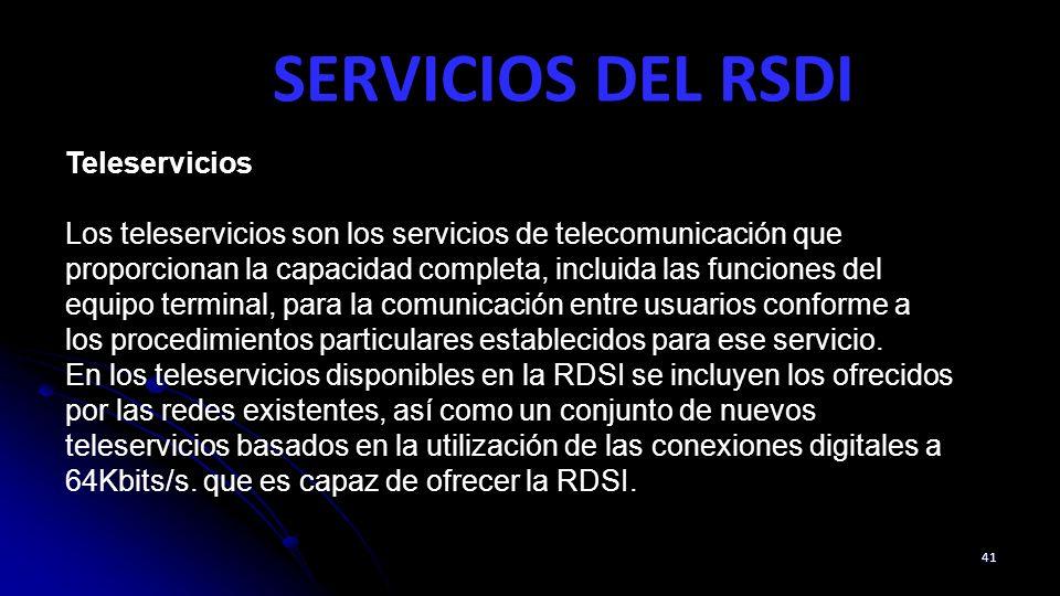 SERVICIOS DEL RSDI Teleservicios