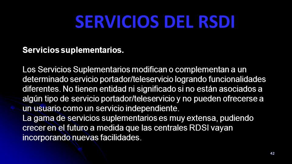SERVICIOS DEL RSDI Servicios suplementarios.