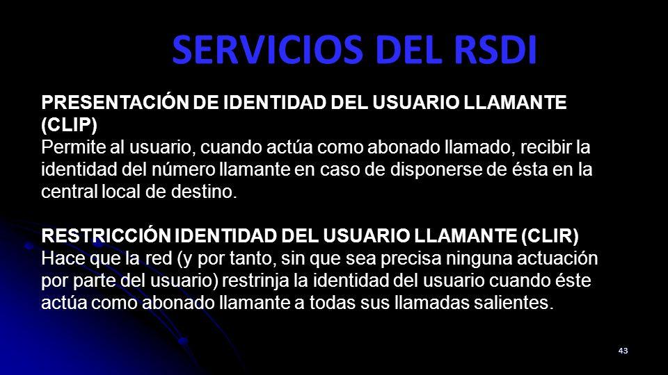 SERVICIOS DEL RSDI PRESENTACIÓN DE IDENTIDAD DEL USUARIO LLAMANTE (CLIP)