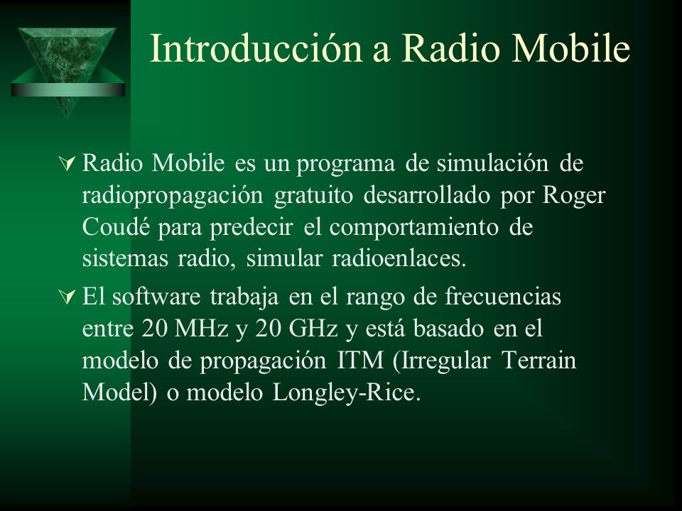 Introducción a Radio Mobile