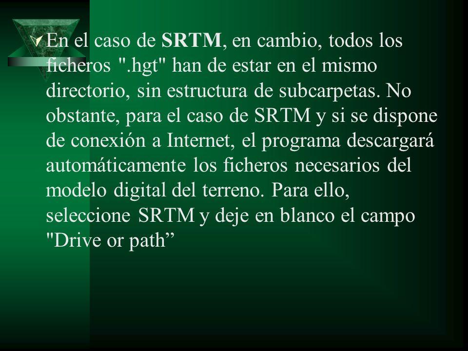 En el caso de SRTM, en cambio, todos los ficheros