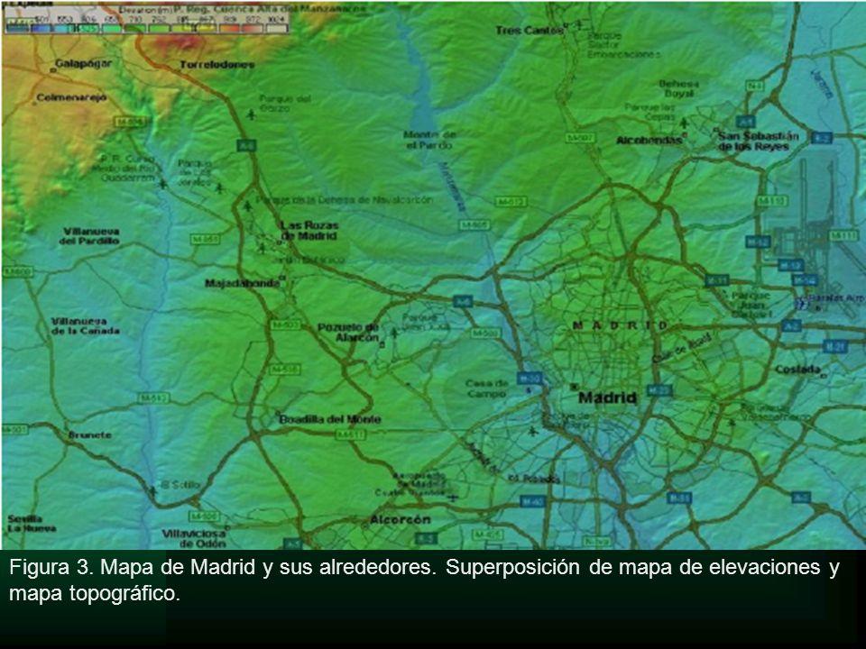 Figura 3. Mapa de Madrid y sus alrededores