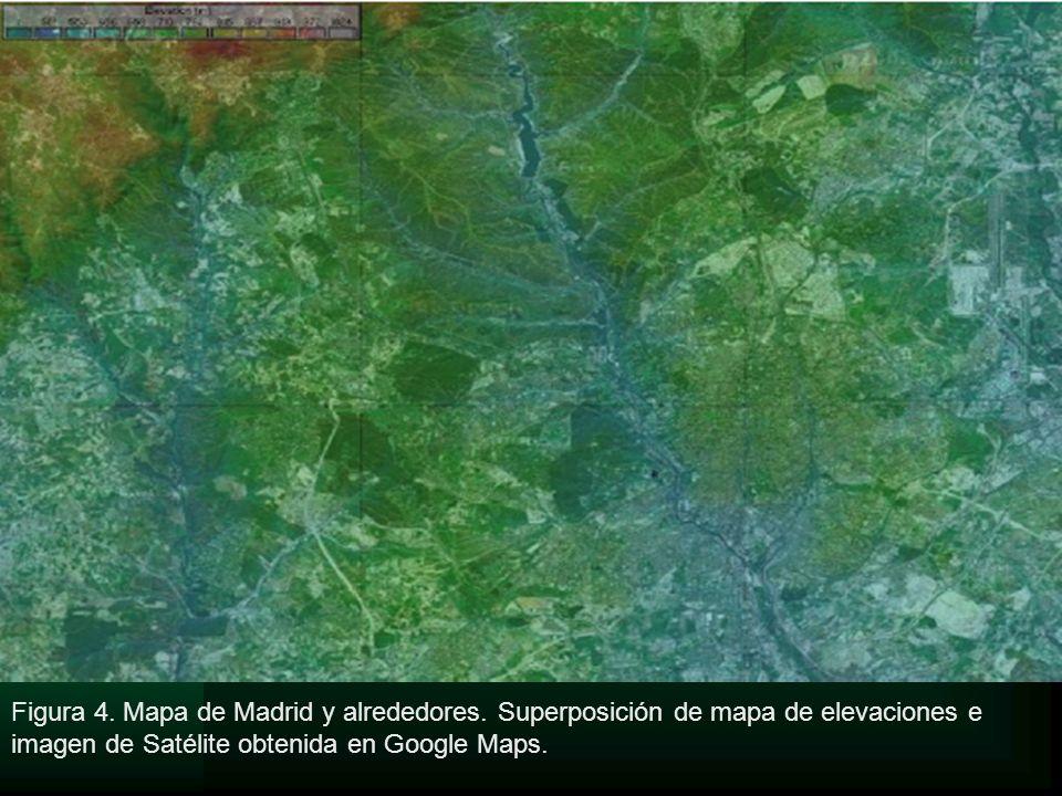 Figura 4. Mapa de Madrid y alrededores