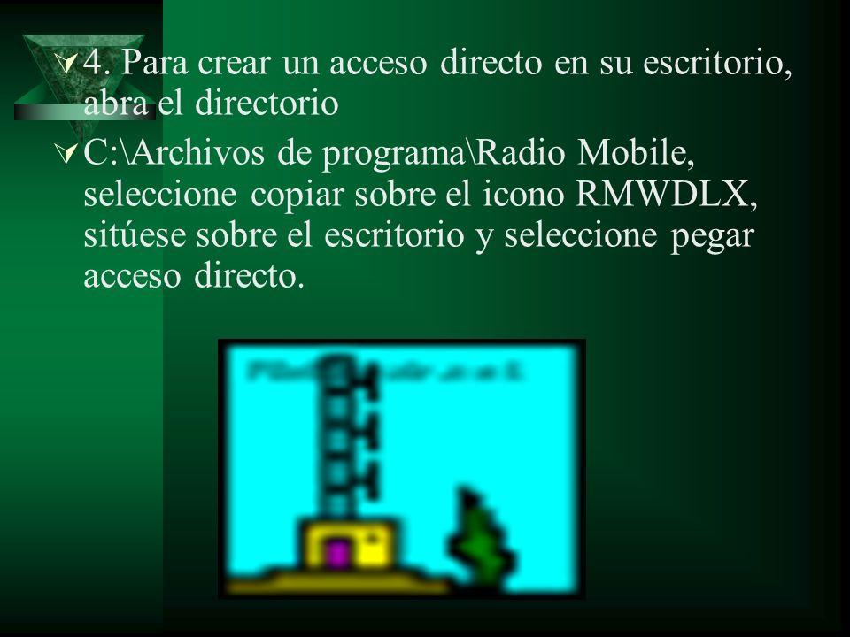4. Para crear un acceso directo en su escritorio, abra el directorio