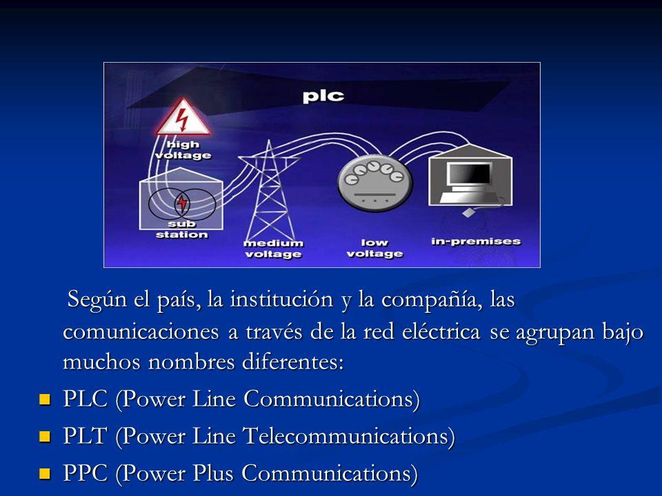 Según el país, la institución y la compañía, las comunicaciones a través de la red eléctrica se agrupan bajo muchos nombres diferentes: