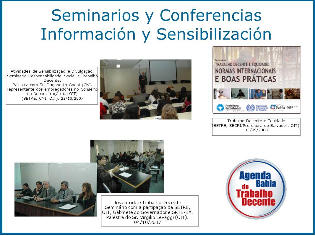 Seminarios y Conferencias Información y Sensibilización